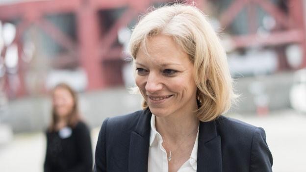 Staatsanwältin Barbara Loppacher vor dem Bezirksgericht Lenzburg in Schafisheim (AG) am 16. März 2018. Das Bezirksgericht Lenzburg hat den 34jährigen Schweizer in allen Anklagepunkten schuldig gesprochen. Es verhängte eine lebenslängliche Freiheitsstrafe und ordnete eine ordentliche Verwahrung an.