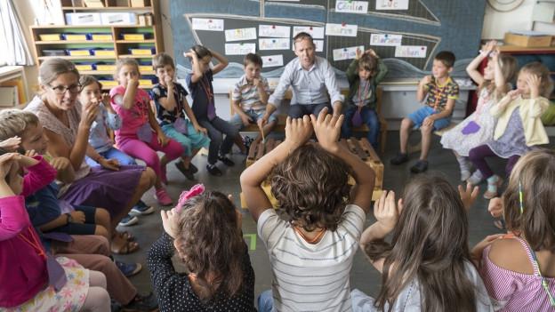 Eine Schulklasse in Basel