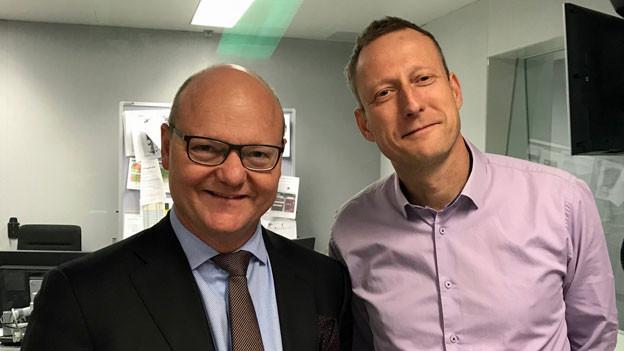 Georges-Simon Ulrich Leiter des Bundesamtes für Statistik (li) und Johannes Jütting von der Organisation Paris 21.