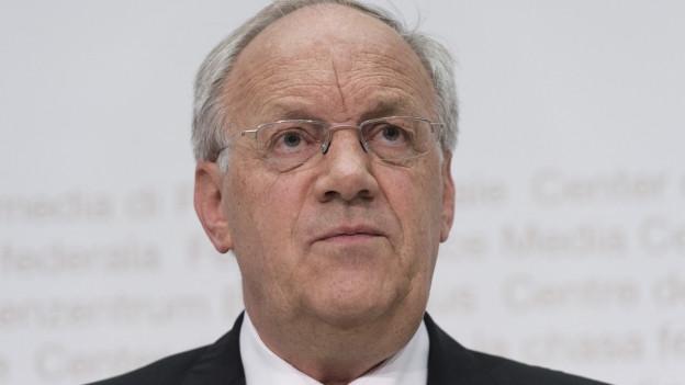 Johann Schneider-Ammann an einer Pressekonferenz im Jahr 2015. Spätestens 2019 will der Wirtschaftsminister zurücktreten.