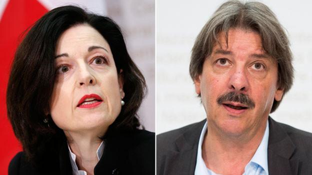 Regine Sauter (FDP) und Paul Rechsteiner (SP).