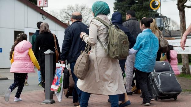 Neue Verteilung: Asylsuchende sollen in Zukunft mittels künstlicher Intelligenz auf die Kantone verteilt werden.