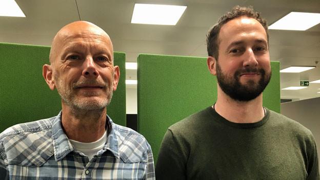 Der Arzt Daniel Koch (li) und der Historiker Andreas Tscherrig.