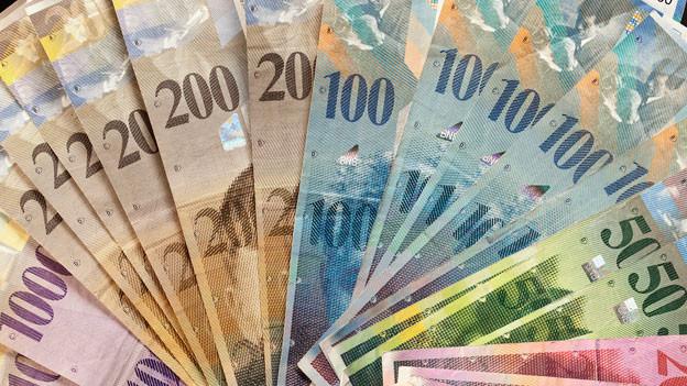 Symbolbild Schweizer Geldscheine.