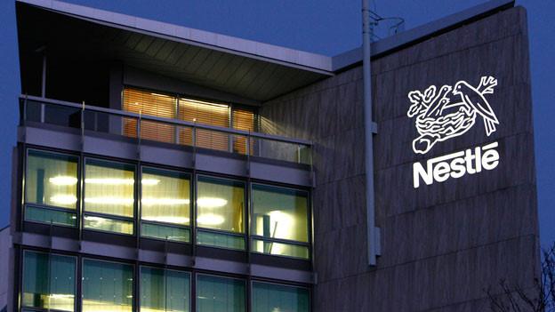 Aussenansicht vom Nestle Hauptsitz in Vevey.
