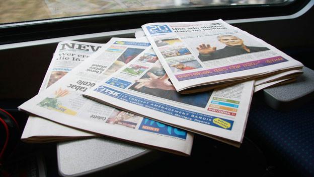 Symbolbild Zeitungen.