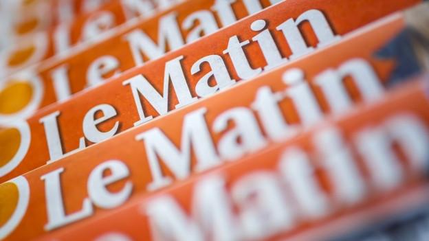 Die Printausgabe des Le Matin wird am 21. Juli zum letzten Mal erscheinen.
