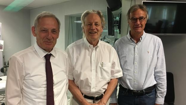 Zu sehen sind von links nach rechts Carlo Schmid, Thomas Held und Peter Bertschi.