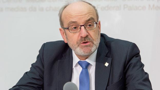 Fritz Schiesser, Präsident des ETH-Rates Zürich.