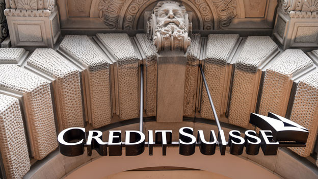 Credit Suisse am Zürcher Paradeplatz.