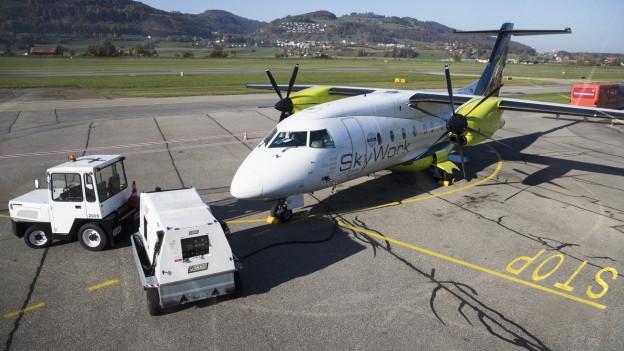 Die Flugzeuge bleiben am Boden. Die Airline Skywork stellte ihren Flugbetrieb ein.