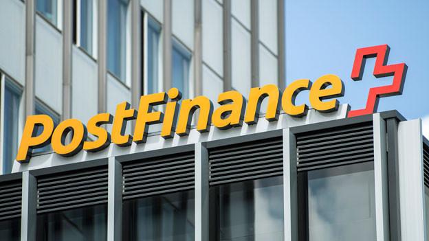 Das Logo der Postfinance.