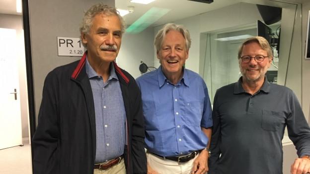 Zu sehen von links nach rechts: Oswald Sigg, Thomas Held, Daniele Piazza.