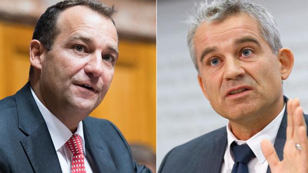 Thomas Matter, SVP-Nationalrat (links) und Beat Jans, SP-Nationalrat.