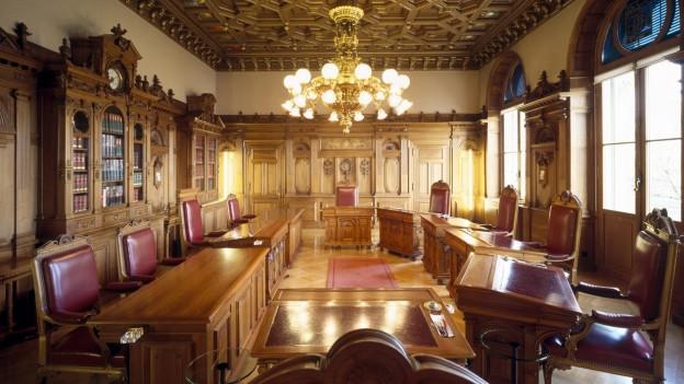 Zu sehen ist das leere Bundesratszimmer. Hier möchten auch Grüne und Grünliberale vertreten sein.