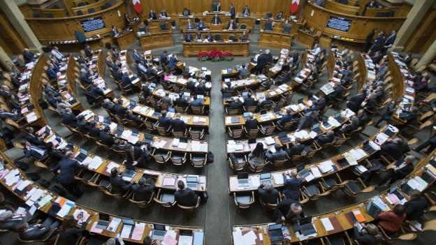 Blick auf den Schweizer Nationalrat.