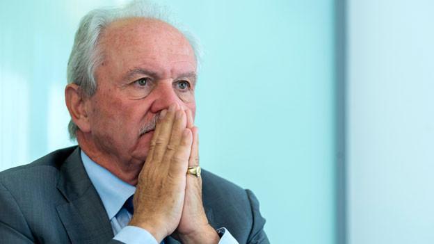 Jean-Pierre Roth, ehemaliger Präsident der Schweizerischen Nationalbank SNB, spricht in einem Interview zum 10. Jahrestag der Finanzkrise in der Schweiz und der Rettung der UBS am 12. September 2018 in Genf.