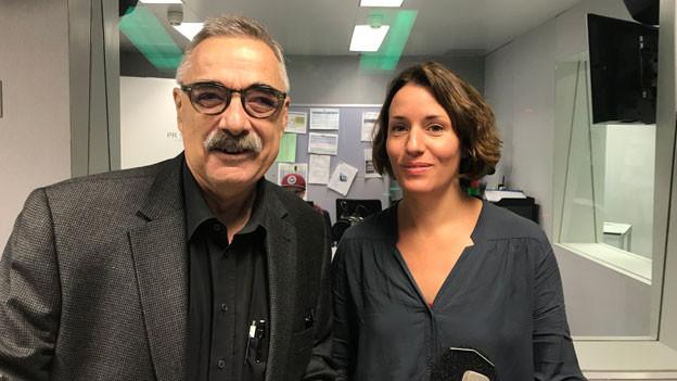 Christian Strübin, Regionaljournal Bern Freiburg Wallis und Marlène Sandrin, Regionaljournal Basel Baselland im November 2018.