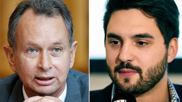 Philipp Müller, FDP  (links) und Cédric Wermuth, SP.