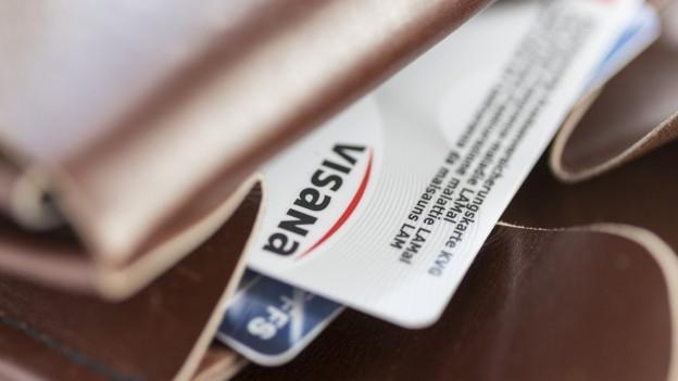 Eine Visana-Versicherungskarte