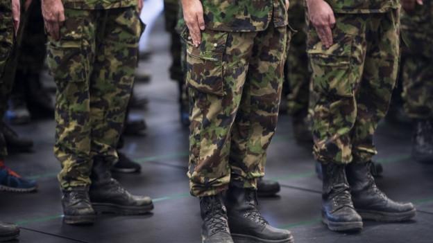 Soldaten stehen stramm