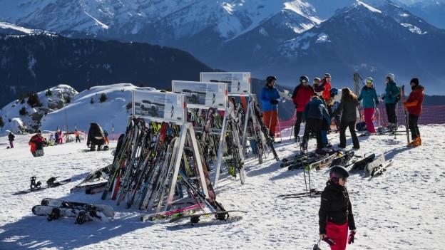 Blick auf das Skigebiet in Leysin am 26.12.2018.