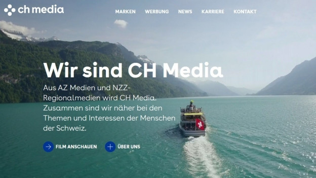Screenshot der Website von CHmedia.ch