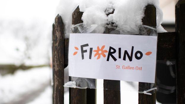 Logo bei der Kinderkrippe Fiorino St. Gallen. Im Juli 2018 wurde ein damals 33jähriger Schweizer Angestellter einer Kindertagesstätte festgenommen. Die Polizei hat mutmassliche Kinderpornographie sichergestellt. Es bestehe der Verdacht, dass der Mann selbst Kinderpornographie herstellte, auch in der Kindertagesstätte.
