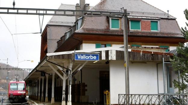 Auf dem Bild zu sehen ist der Bahnhof von Vallorbe