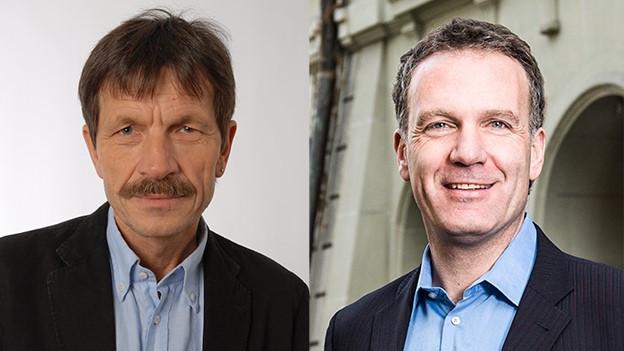 Ueli Mäder (links) Mark Balsiger