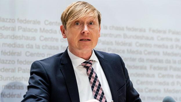 Preisüberwacher Stefan Meierhans an der Medienkonferenz vom 4. März 2019.