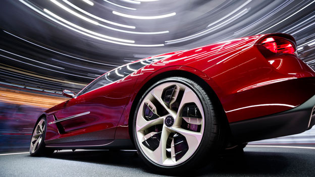 Ein Auto der Zukunft am Autosalon in Genf im März 2019.