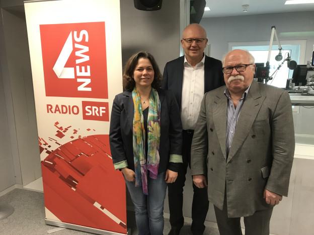 Michelle Beyeler (links), Hugo Schittenhelm (mitte) und Lieni Füglistaller
