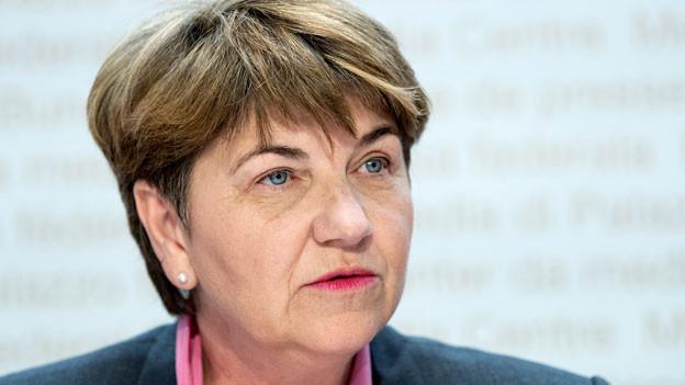 Bundesrätin Viola Amherd äussert sich zur Entflechtung und Weiterentwicklung des Rüstungskonzern Ruag.