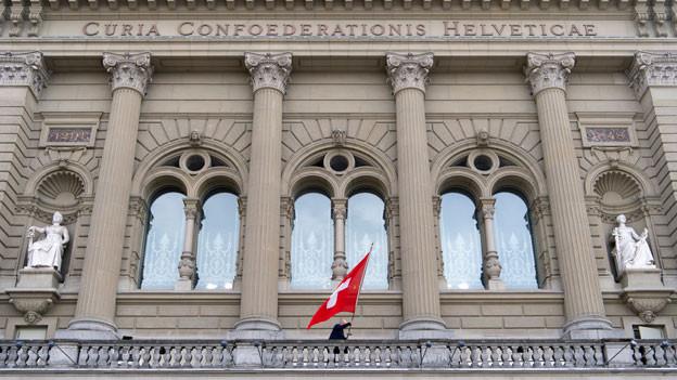 Hinter der Bundeshausfassade liegt der Ständeratssaal.
