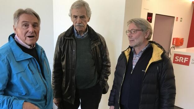 Ruedi Aeschbacher, Oswald Sigg und Daniele Pazza (von links)