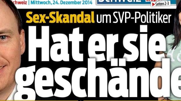 Ausschnitt der Blick-Titelseite vom 24.12.2014.