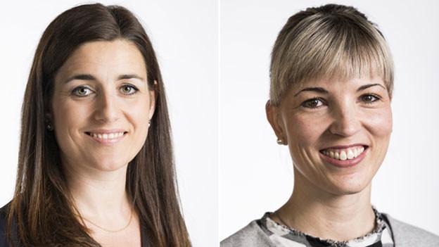 Nationalrätinnen Flavia Wasserfallen (links) und Diana Gutjahr.