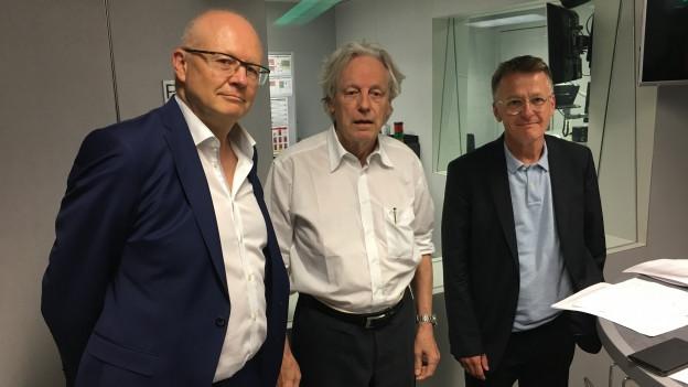Zu sehen ist die Freitagsrunde von links nach rechts mit Hugo Schittenhelm, Thomas Held und Thomas Meier.