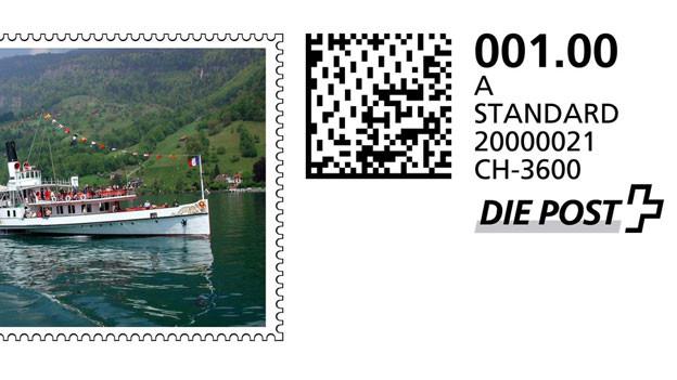Beispiel einer Onlinebriefmarke der Post.