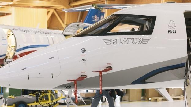 Ein Flugzeug des Herstellers Pilatus.
