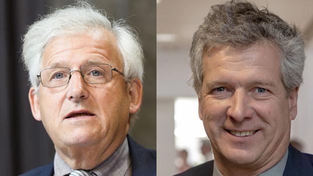 Hans Stöckli, SP-Ständerat (links) und Thomas de Courten, SVP-Nationalrat.