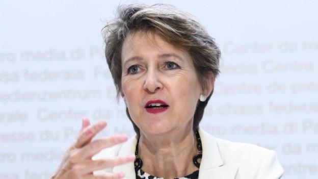 Medienministerin Simonetta Sommaruga am 28. August bei der Präsentation der neuen Vorschläge.