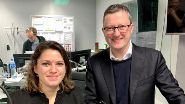 Auf dem Bild zu sehen ist Mattea Meyer (SP) und Peter Keller (SVP).