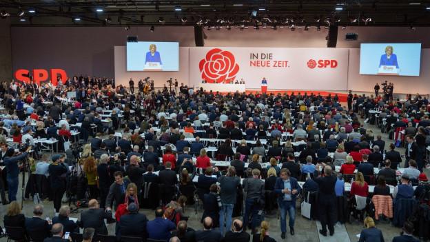 SPD-Parteitag: Weichenstellung in Berlin.