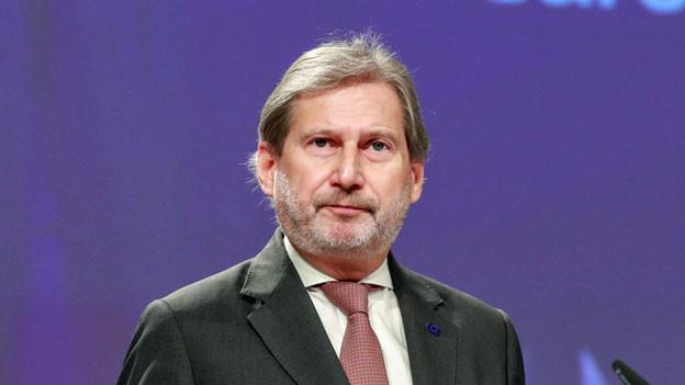Johannes Hahn, EU-Kommissar für Europäische Nachbarschaftspolitik und Erweiterungsverhandlungen.