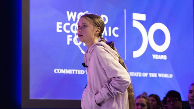 Die junge Klimaaktivistin Greta Thunberg am WEF in Davons am 21. Januar 2020.