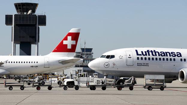 Flugzeuge von Swiss und Lufthansa fliegen China vorderhand nicht mehr an.