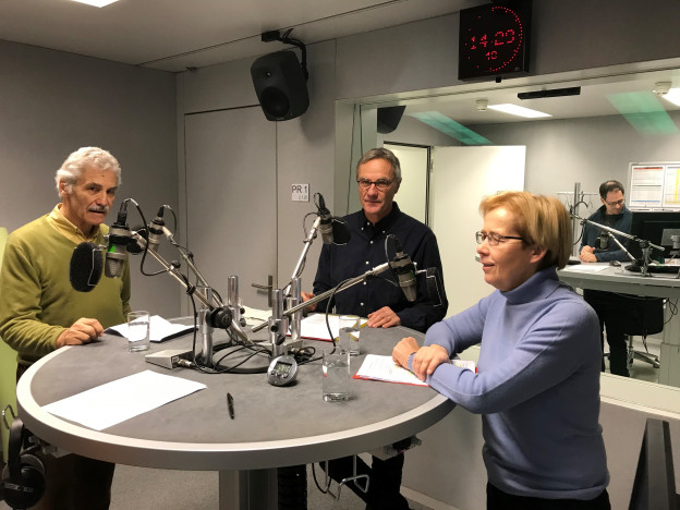 Oswald Sigg, Peter Bertschi, Dora Andres, Martin Johann (von links)