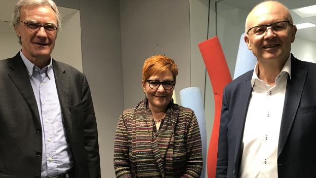 Peter Bertschi, Cécile Bühlmann, Hugo Schittenhelm (v.l.n.r.)